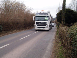 HGV on Downside Road
