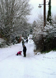 People in the snow
